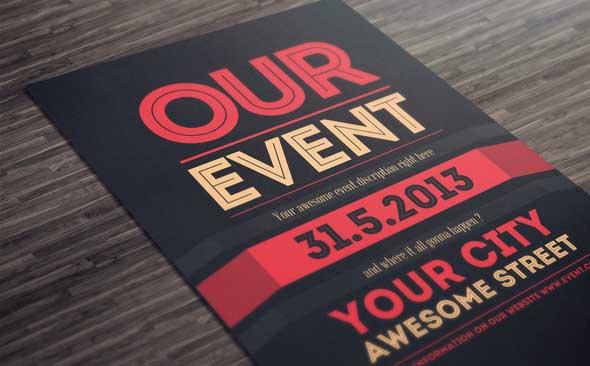 Best PSD Event Flyer Templates DesignMaz - Promotional brochure template