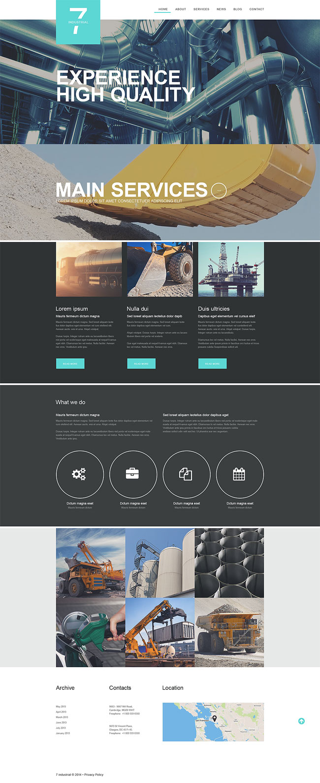 15+ Best Themes for Industrial Business 2018 - DesignMaz
