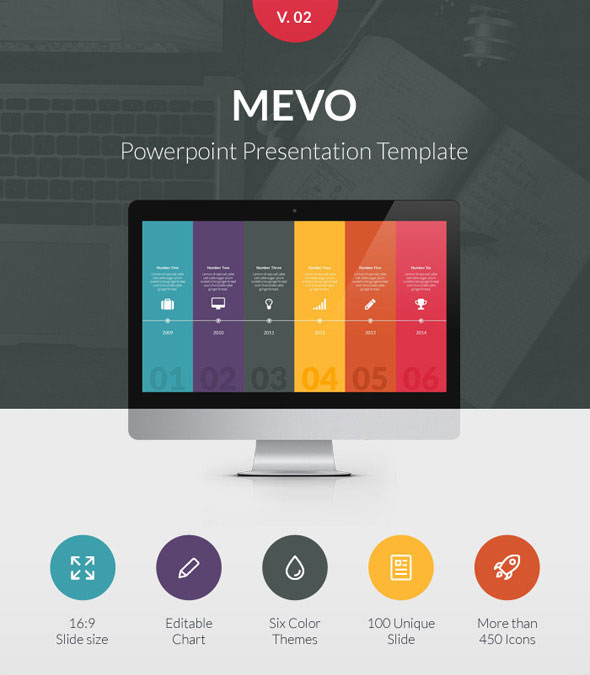35 amazing powerpoint templates 2017 designmaz mevo powerpoint presentation template toneelgroepblik Image collections