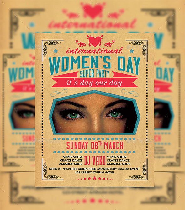 10 Best Women's Day PSD Party Flyer Templates