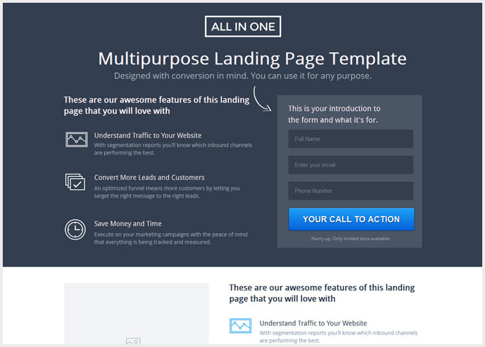 25 best marketing unbounce landing page templates designmaz marketing unbounce landing page templates pronofoot35fo Images
