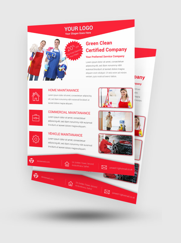 Cleaning Service Template Free from designsmaz.com