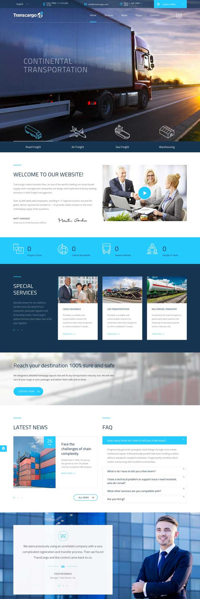 15+ Best Transportation and Logistics WordPress Themes for