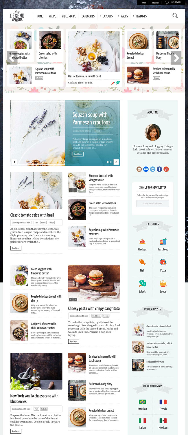 40 best food and recipe wordpress themes 2016 designmaz neptune is a wordpress theme for food recipe bloggers neptune created with food bloggers in mind show off your personal cooking blog with simple and clean forumfinder Image collections