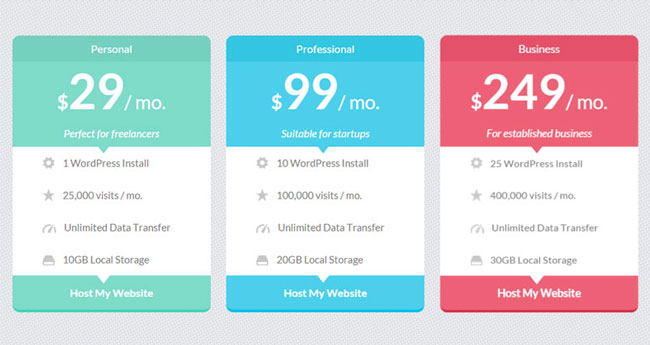 15 best free html5 css3 pricing tables templates 2016 for Table css template
