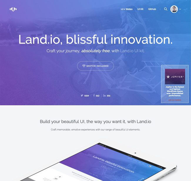 The Best Free Downloads Online: 25+ Free HTML Landing Page Templates 2017
