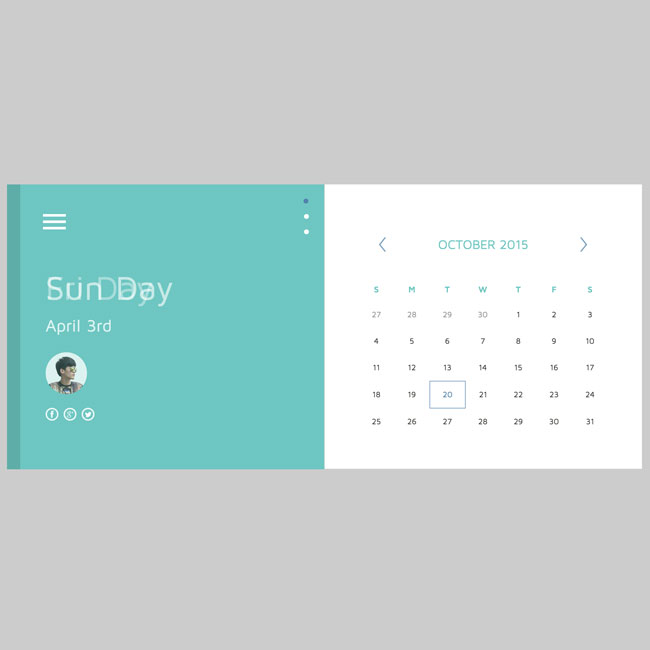 Free Material Html5 Css3 Calendar Template Free Download