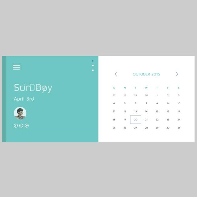 Calendar Design Html : Best free html css calendar widgets designmaz