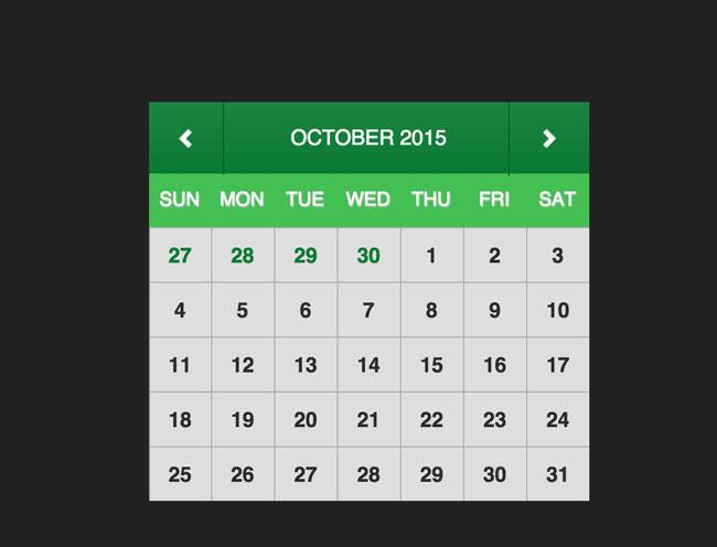 Calendar Web Widget : Best free html css calendar widgets designmaz