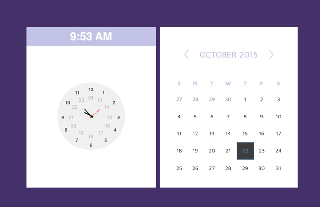 how to create a calendar using html5 and css3