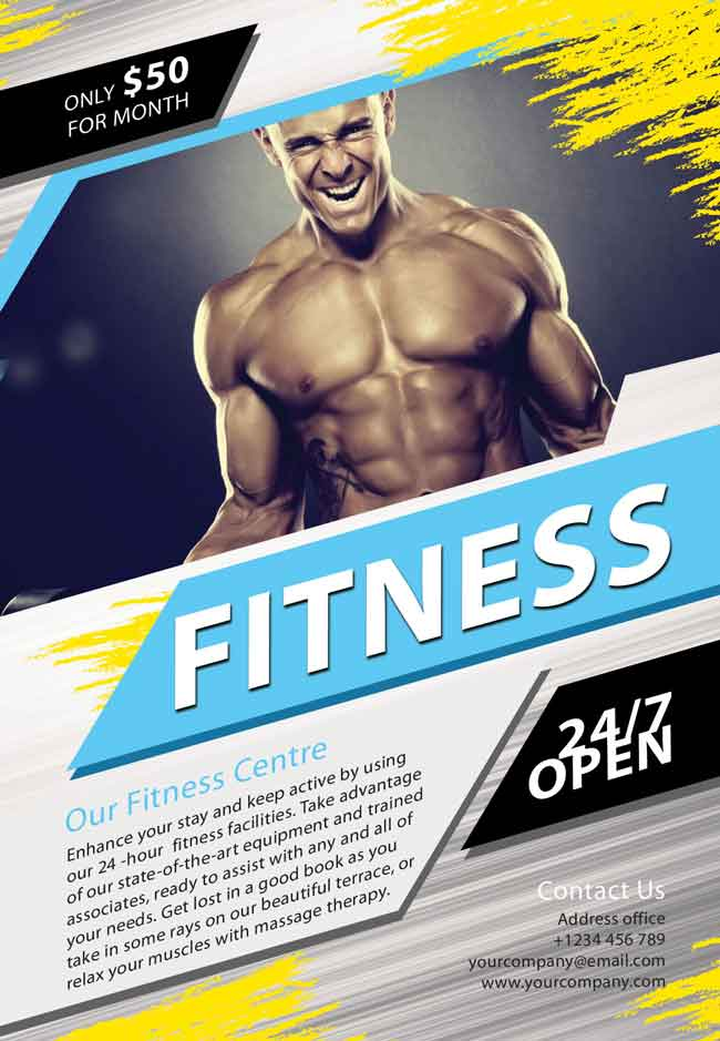 Fitness Flyer PSD Free  Free Fitness Flyer Templates