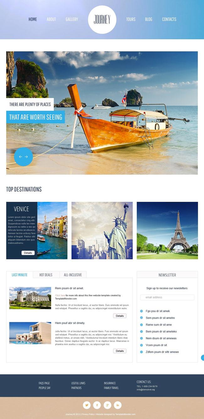 10+ Best Free Travel Hotel HTML5 Templates - DesignMaz