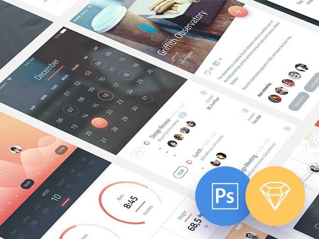 Free Phoenix IOS App UI Kit PSD | Free download