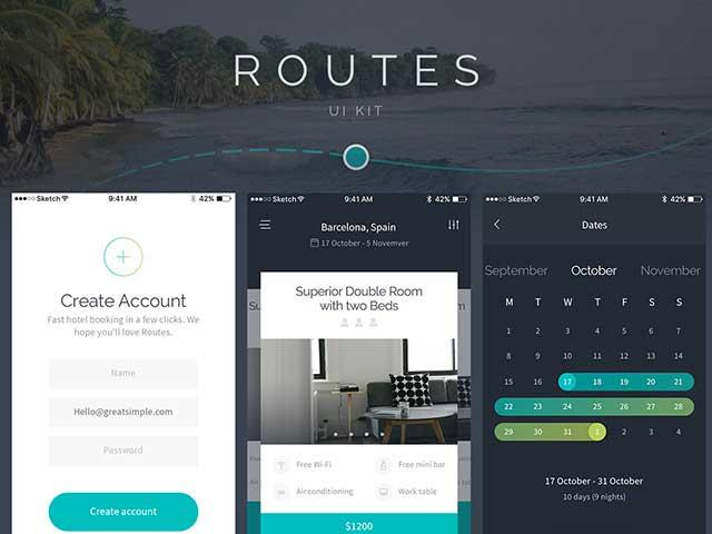 50 best free mobile app ui kits psd designmaz for App design online