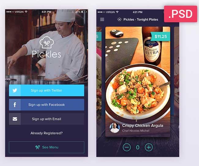 Best free mobile app ui kits psd designmaz