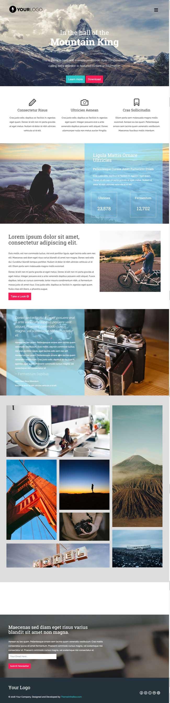 35+ Best Responsive HTML5 CSS3 Website Templates 2016