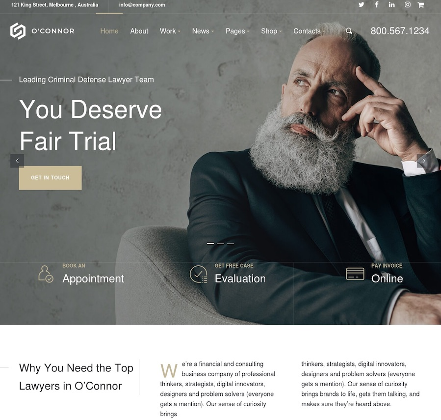 25+ Best Lawyer WordPress Themes for Law Firms and Attorneys 2019