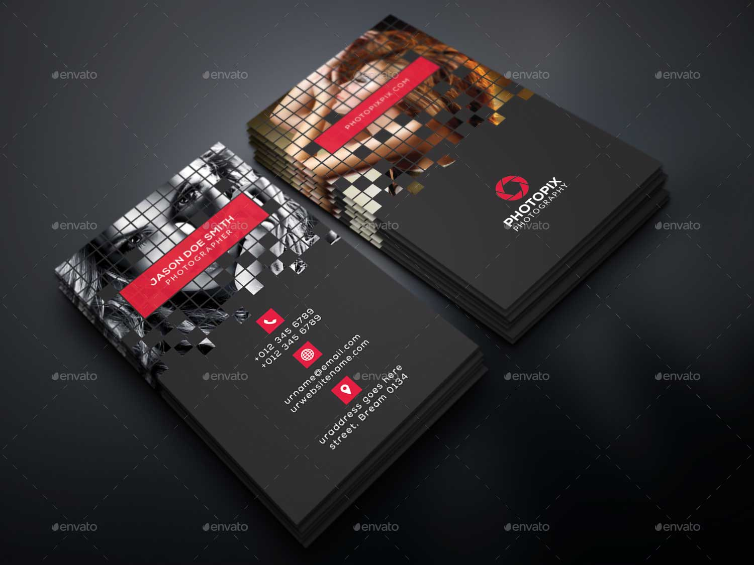 Best Business Card For Photographers Designmaz - Business card template photoshop psd