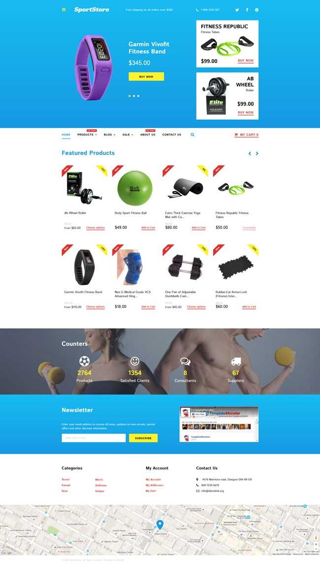 8 Best Sport Store Shopify Themes 2017 - DesignMaz