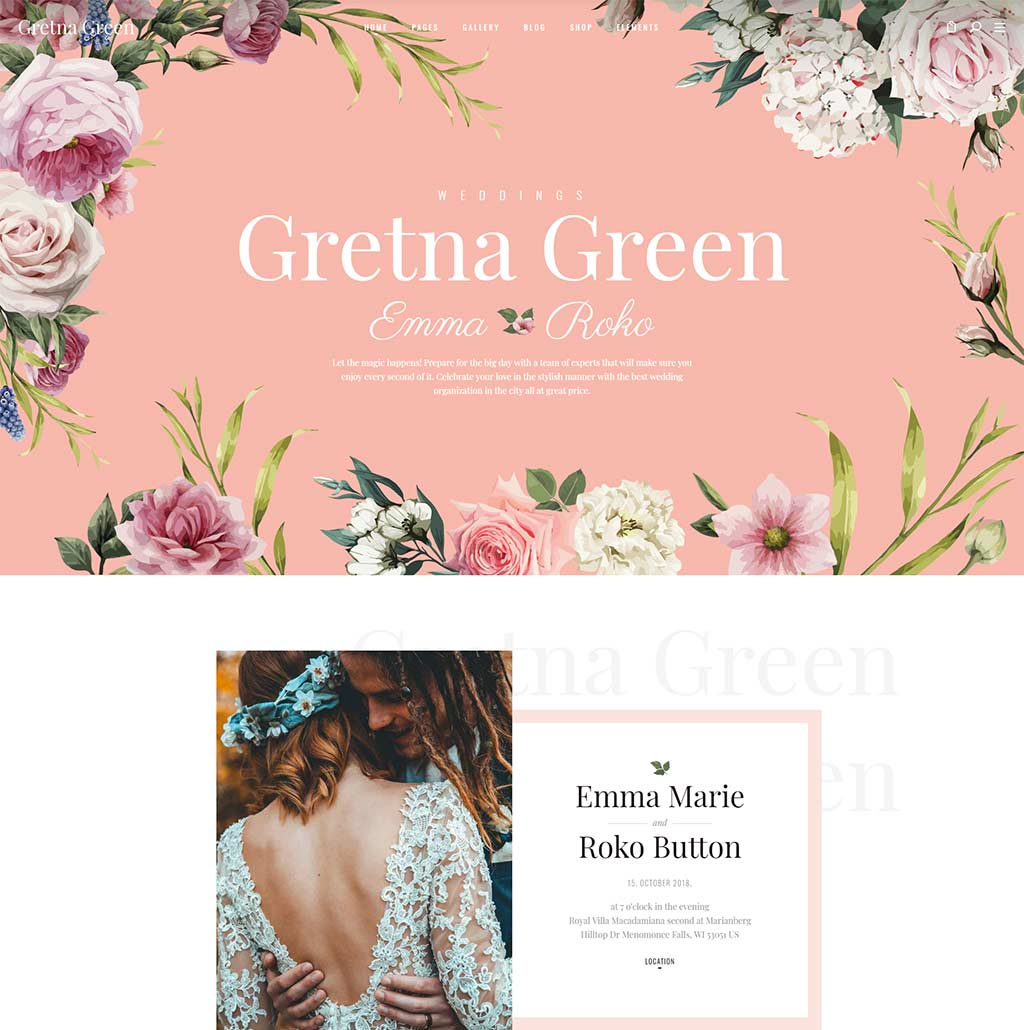 35+ Sweet WordPress Wedding Themes for Marriage and Wedding Events