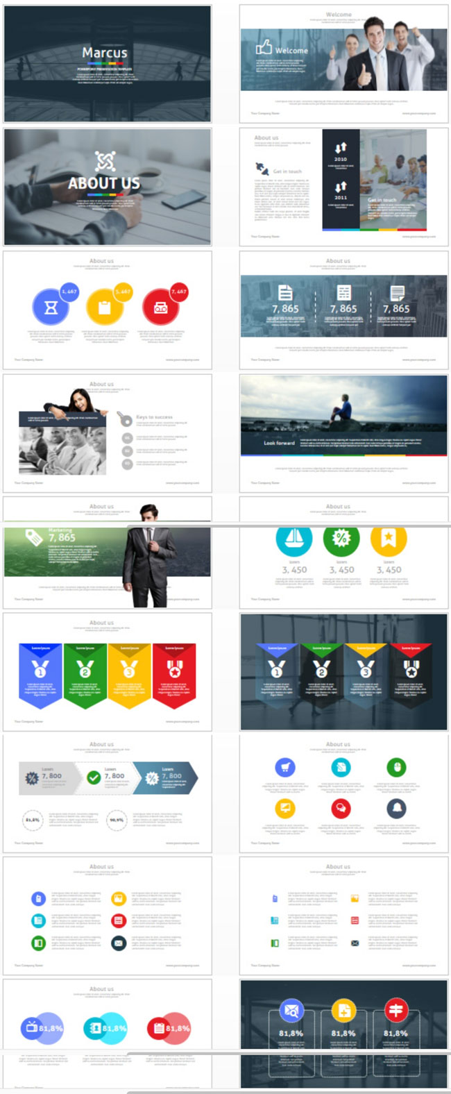 35 amazing powerpoint templates 2017 designmaz marcus is a professional powerpoint presentation template for business marcus comes with 60 amazing color schemes all objects are fully editable alramifo Image collections