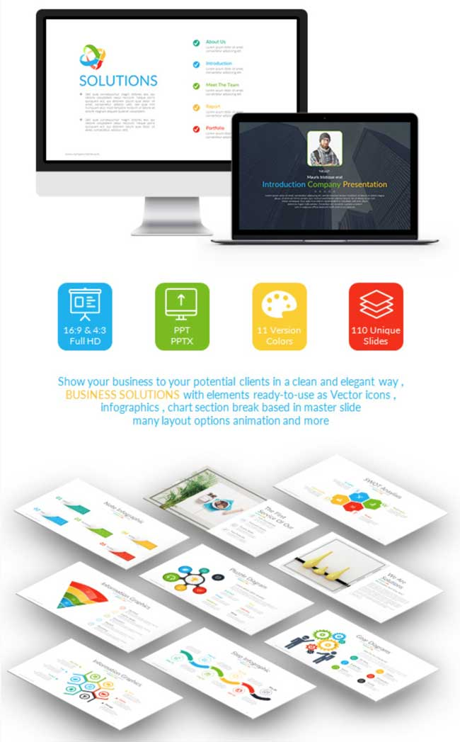 35 amazing powerpoint templates 2017 designmaz a elegant powerpoint template for presentation a business solution this powerpoint template includes 11 cool themes light and dark version toneelgroepblik Images
