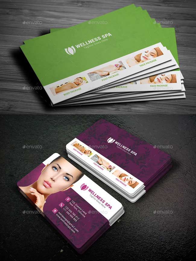 20+ Best Beauty Salon and Spa Business Cards - DesignMaz