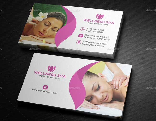 20 best beauty salon and spa business cards designmaz beauty spa business card reheart Images