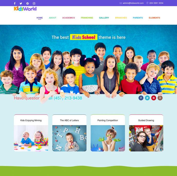 25 Best Kid S Wordpress Themes For Kindergarten And Elementary School 2017 Designmaz