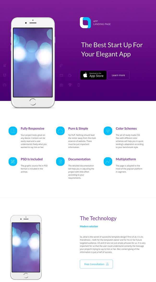 20 best mobile app landing page templates 2016 for Ola document template