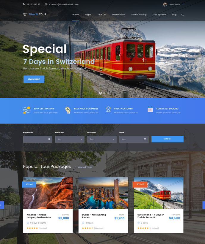 30+ Best WordPress Travel & Hotel Themes for Travel Agencies, Hotels