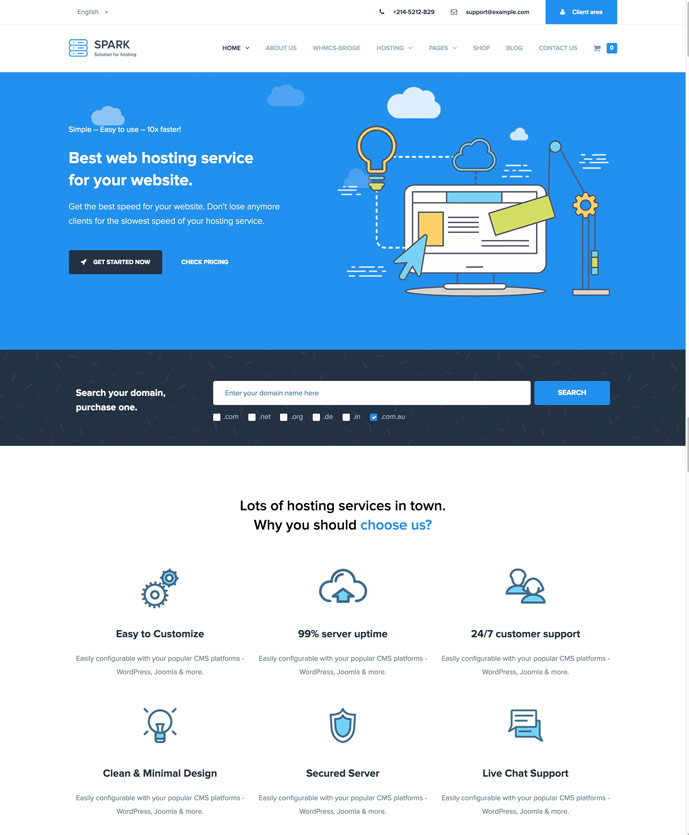 25+ Best WordPress Web Hosting Themes With WHMCS Integration 2017