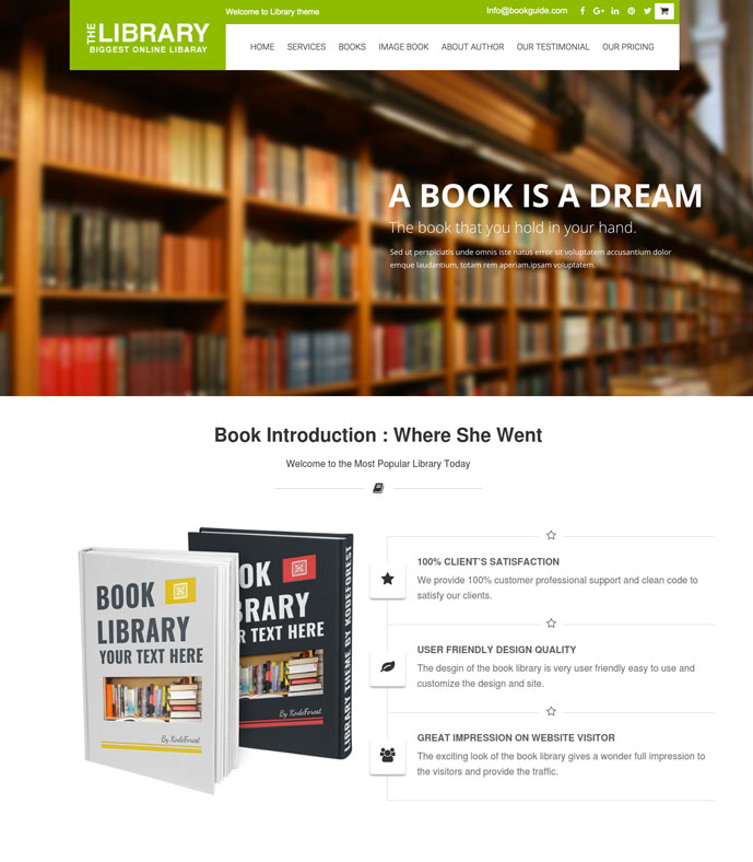 10 best wordpress themes for author selling ebooks 2017 designmaz bookguide is a well designed ecommerce ready theme with woocommerce that you can absolutely use for publishing your personal or company portfolio fandeluxe Image collections