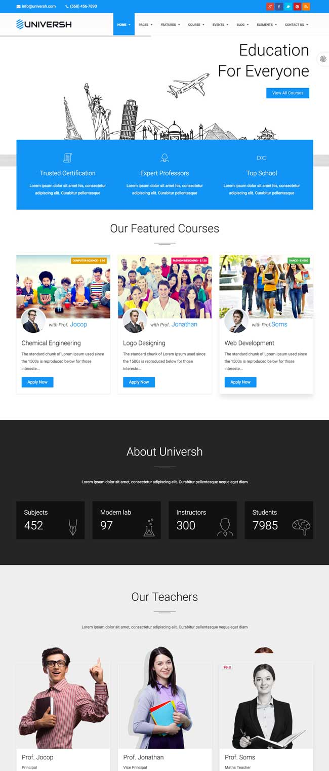 35+ Best Education Responsive HTML Templates for