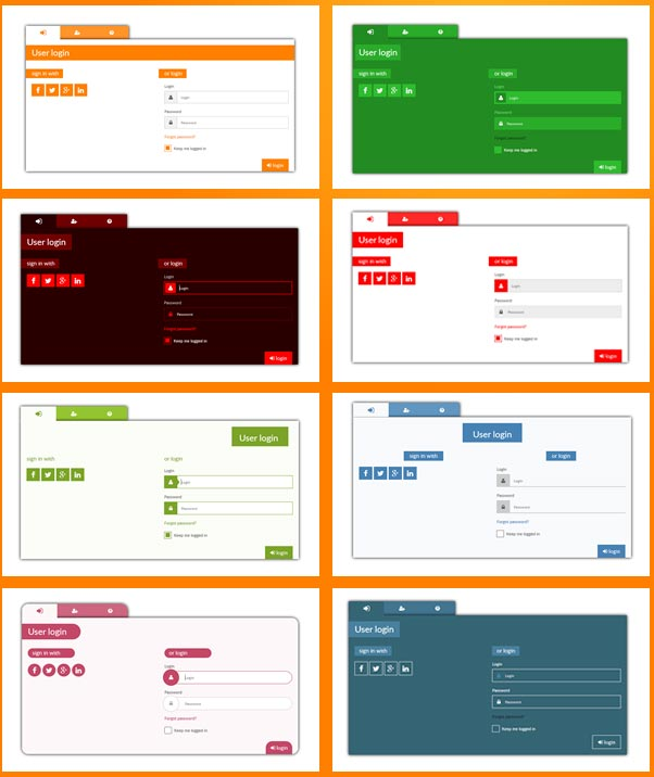 Calendar Templates Html Css : Best html login registration form templates