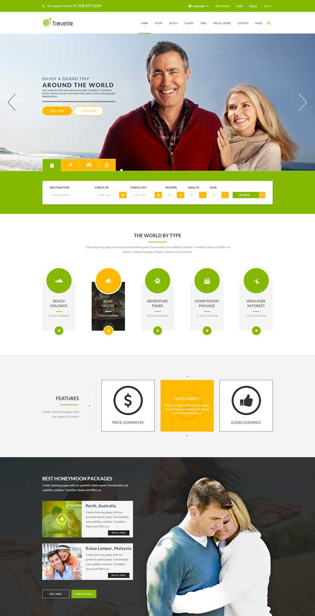 20+ Best HTML Responsive Booking Templates for Travel, Hotel ...