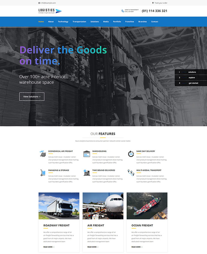 15+ Best Transportation and Logistics WordPress Themes for for