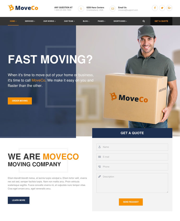 15 Best Transportation And Logistics Wordpress Themes For For Moving Company Delivery Services 2017 Designmaz