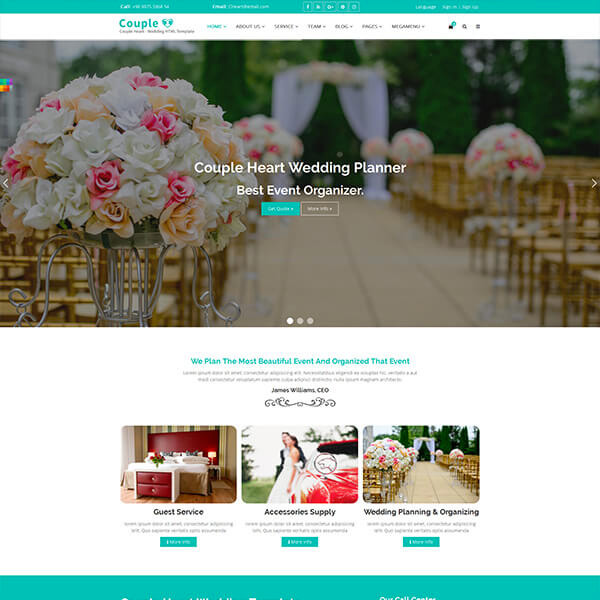 Story Tips For Creating Wedding Website: 10+ Best Responsive Website Templates For Wedding And