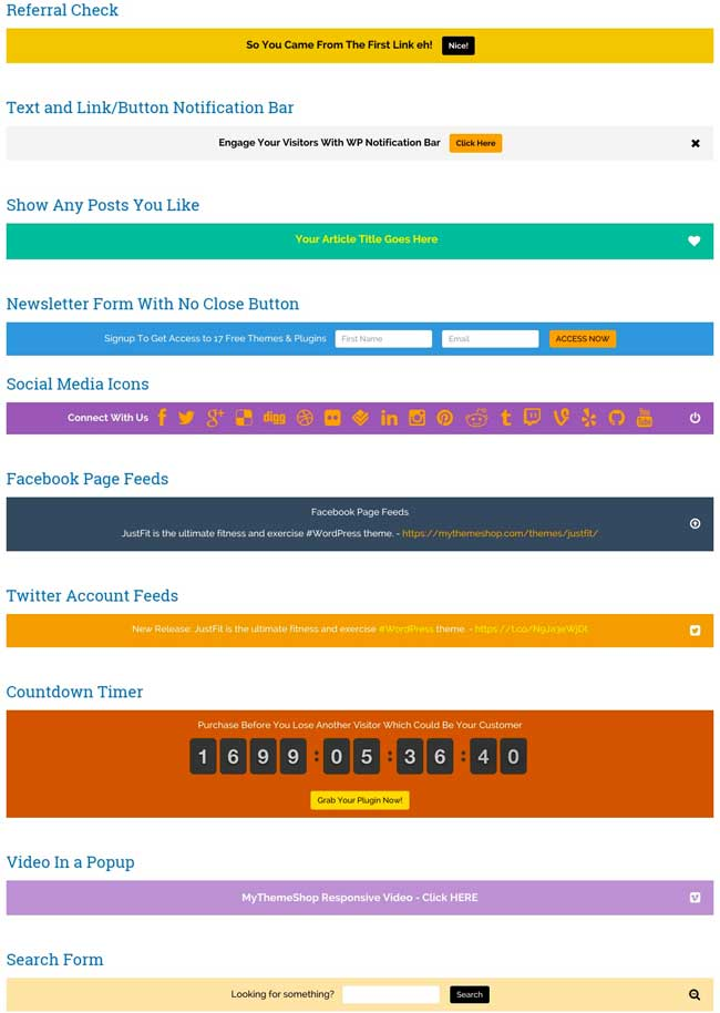 20+ Awesome Notification Bar WordPress Plugins 2016 ...